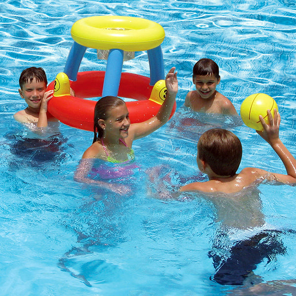 Water Basketball with Ring Toss Game