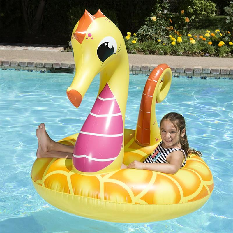 buy inflatable pool unicorn and seahorse cheap pool toys