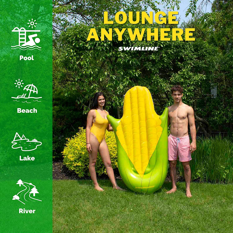 Corn Pool Lounger with Built In Headrest