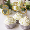 Gold Glitter Diamond Ring Toppers