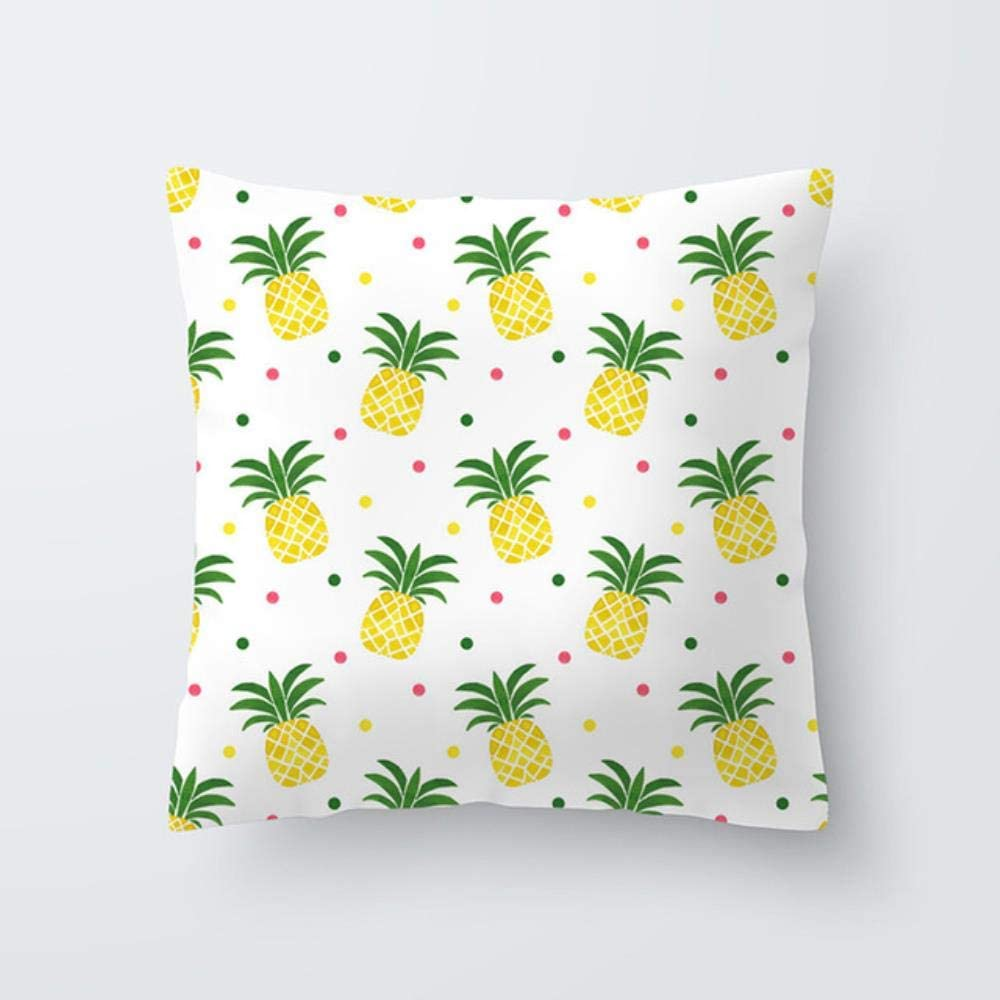 AOP Pineapple Print Cushion Cover