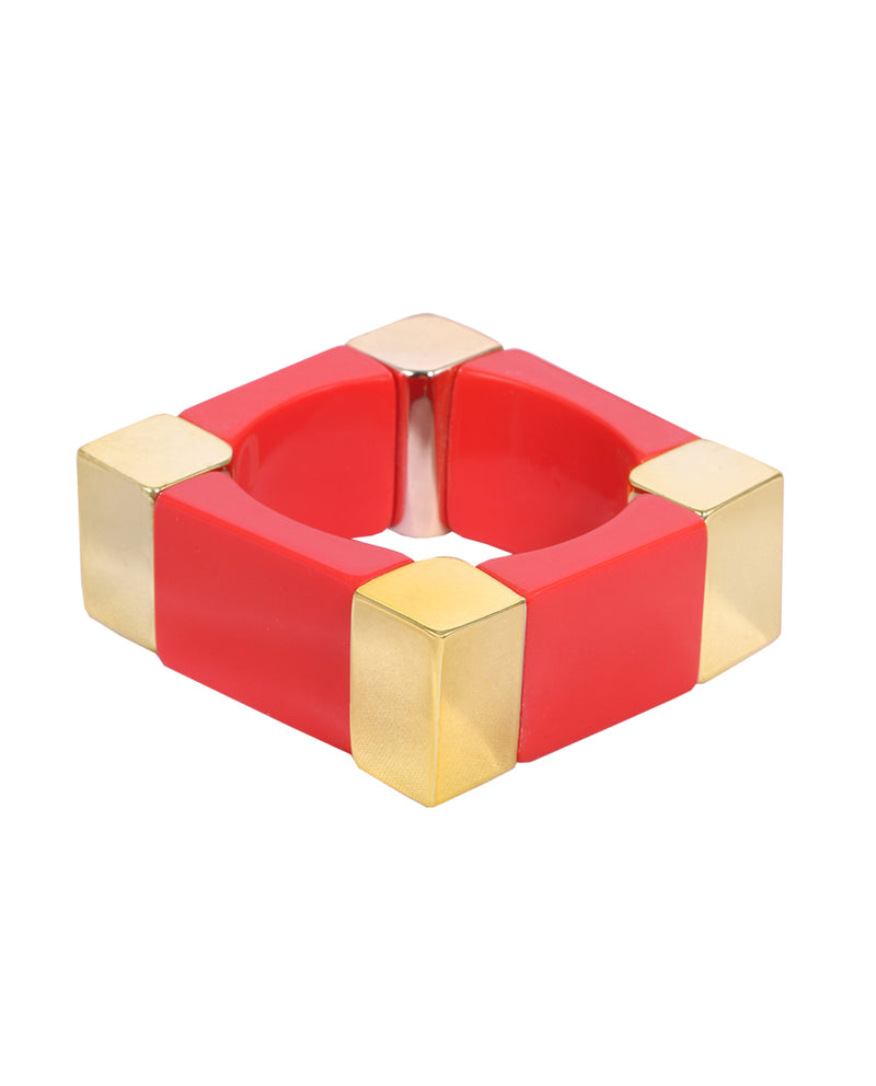 Red Chunky Square Bracelet