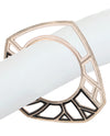 Asymmetrical White Bangle