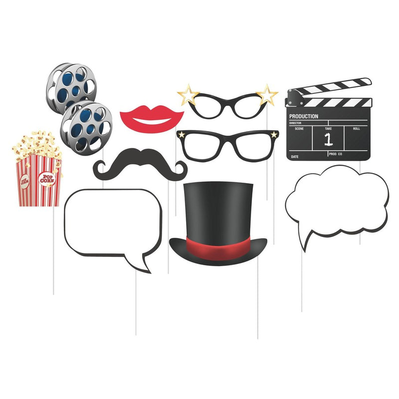 Hollywood Lights Photo Booth Props (10pc)