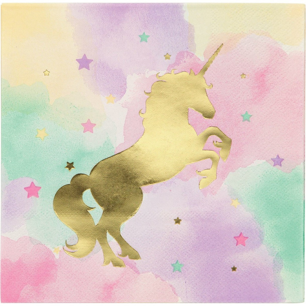 Unicorn Sparkle Lunch Napkin (Pack of 16)