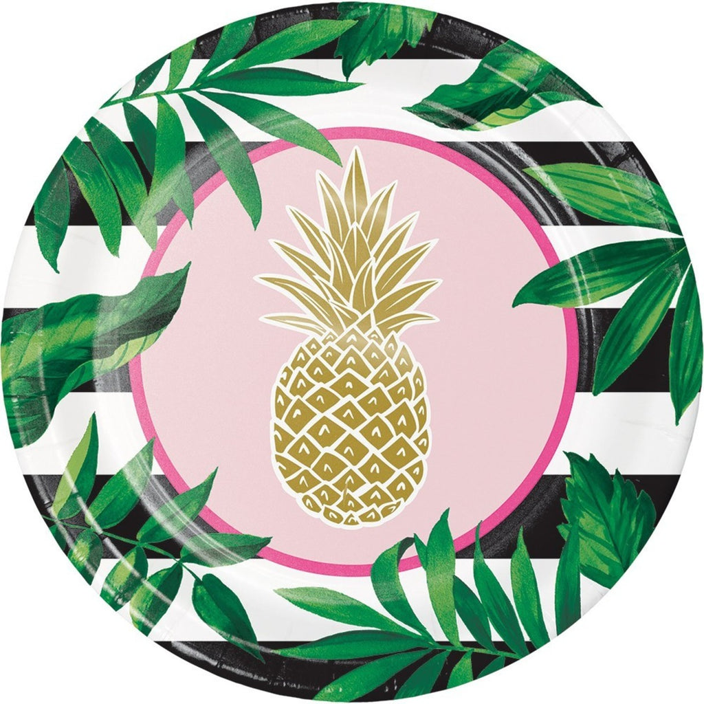 Pineapple Lunch Plate (Set of 8)