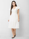 Eyelet Belted Dress