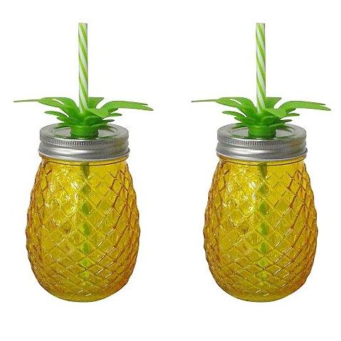 Pineapple Mason Jars (Set Of 2)