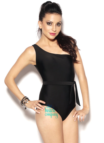 Belted One Shoulder Swimsuit By NM SWIM