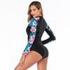 Floral Print Long Sleeve Swimsuit