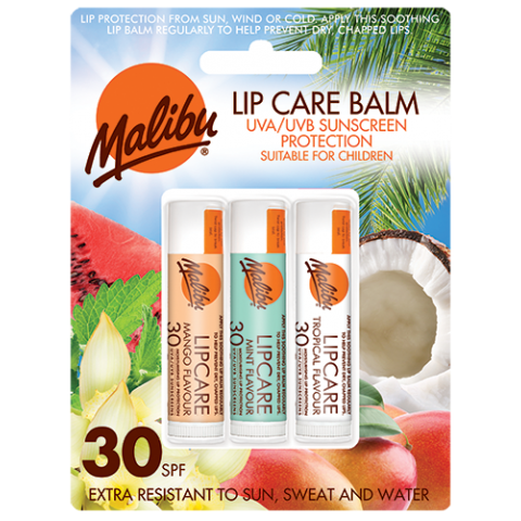 Lip Care Mango, Mint, Tropical 3-pack SPF30