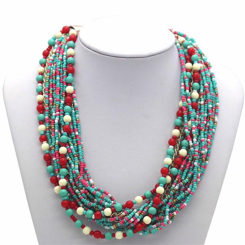 Colorful Bohemian Bead Necklace