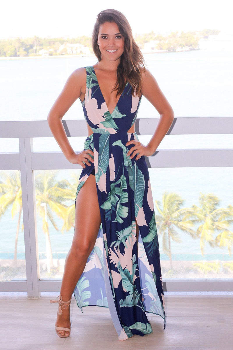 Peekaboo Maxi Dress (M Only)
