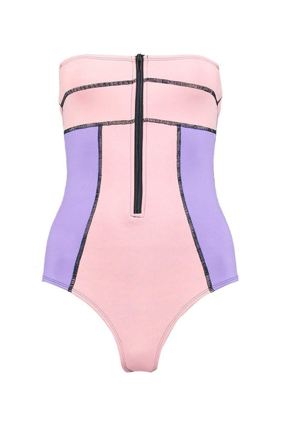 Neoprene Colour Block Swimsuit