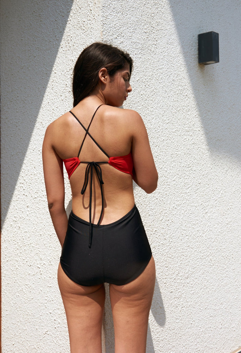 Scarlet Cut-Out Monokini