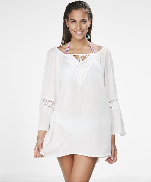 Crochet Trim Kaftan