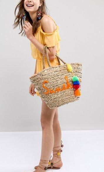 Sunshine Straw Basket Bag