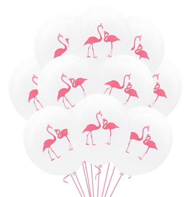 Flamingo Theme Latex Balloons (Pack of 10)