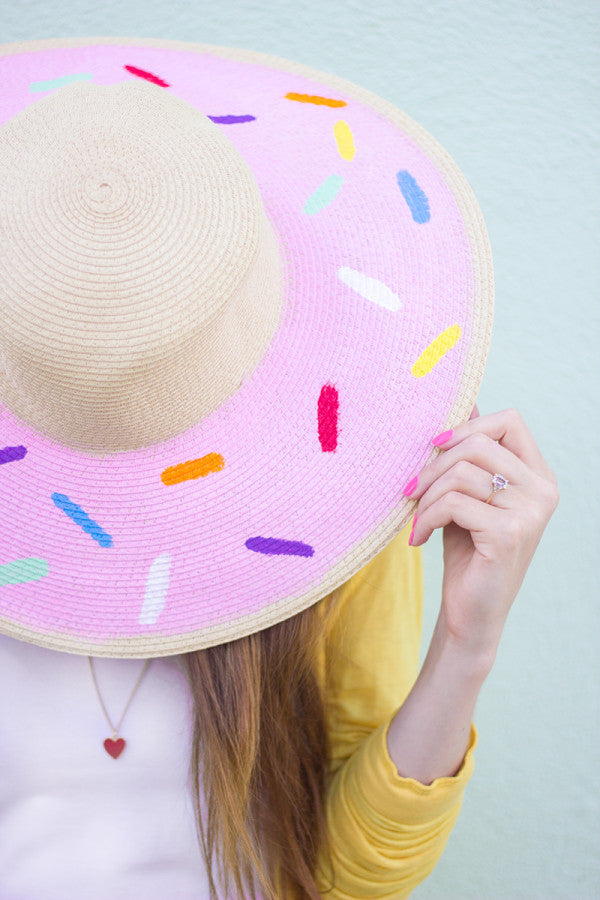 Sprinkled Donut Floppy Hat