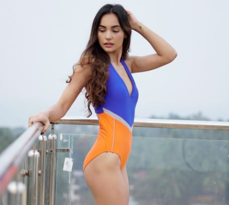 Colorblock Sporty Swimsuit