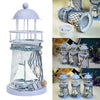 Coastal Light House Candle Holder (Pack Of 2)