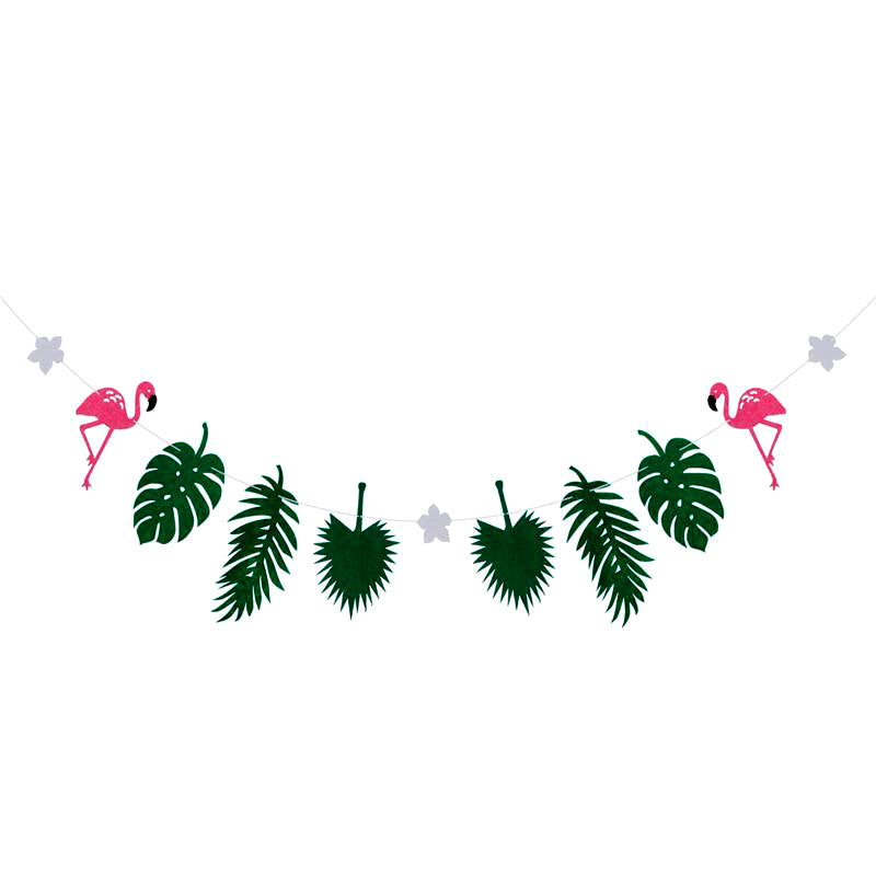 Flamingo Coconut Leaves Garland