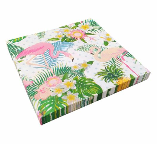 Tropical Flamingo Paper Napkins (Pack of 20)
