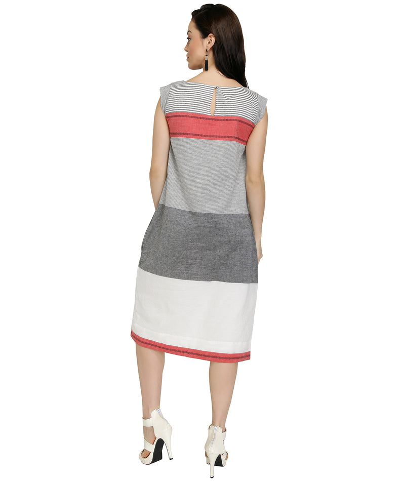 Ombre Handloom Cotton Dress