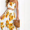 Sunflower Midi Skirt Two Piece Set