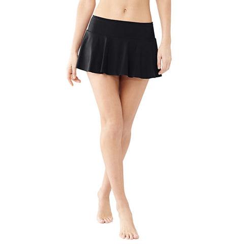 Black Frill Swim Skirt