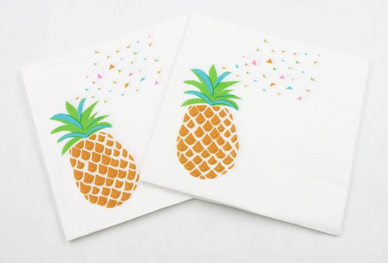 Pineapple Paper Napkins (Pack of 20)