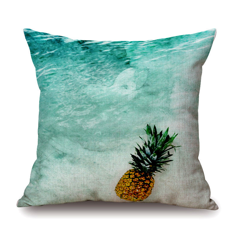 Oceanic Pineapple Cushion Cover