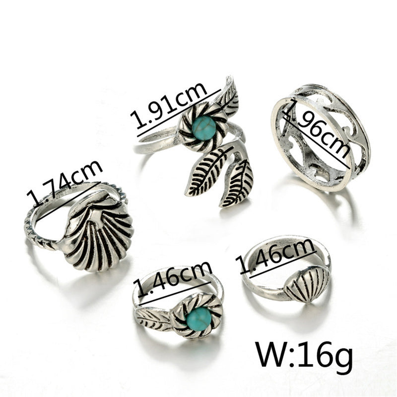 Marine Life Midi Ring Set
