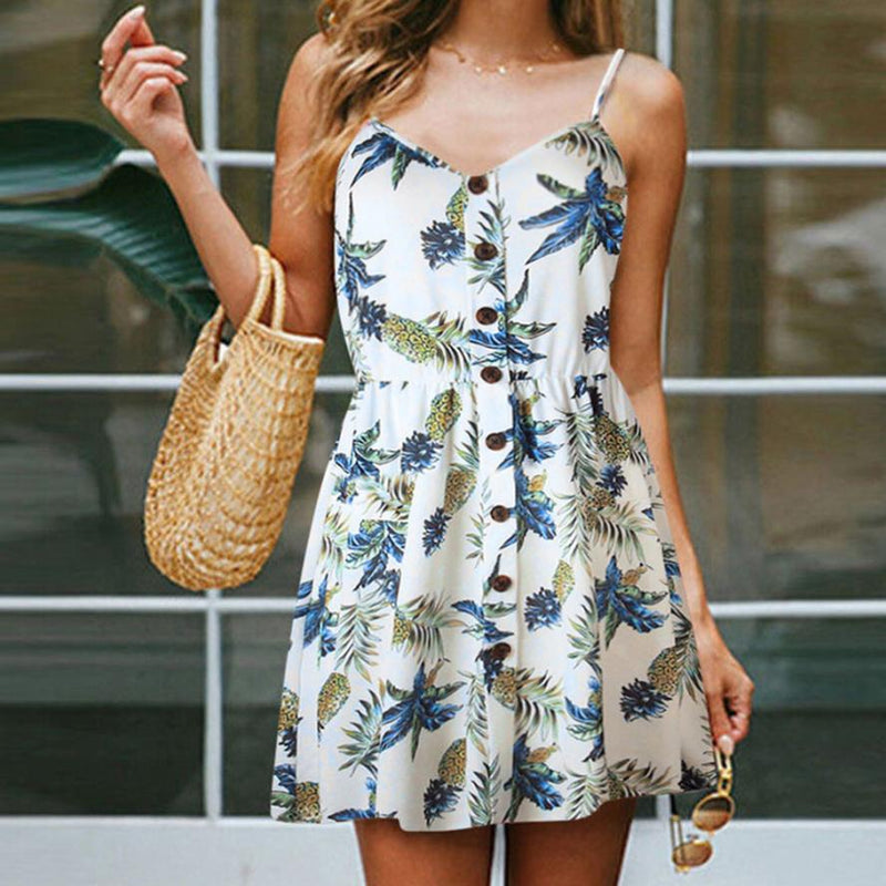Button Down Pineapple Sundress (L Only)
