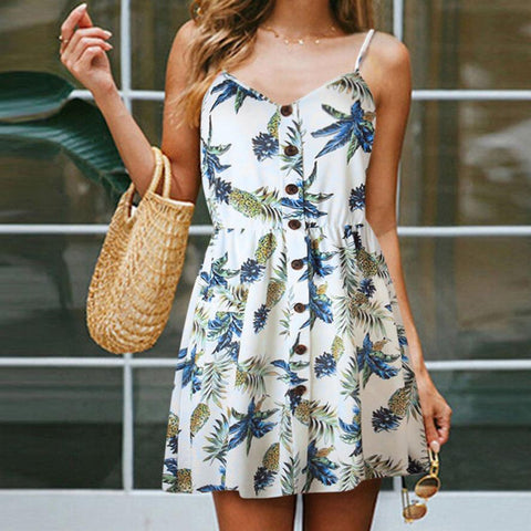 Button Down Pineapple Sundress