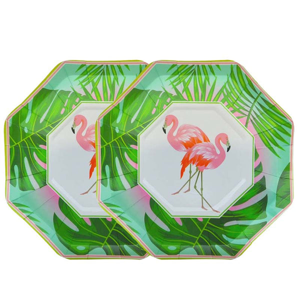 Disposable Flamingo Plates (Pack Of 8)