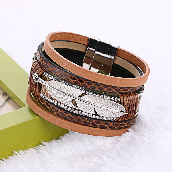 Multilayer Feather Bracelet