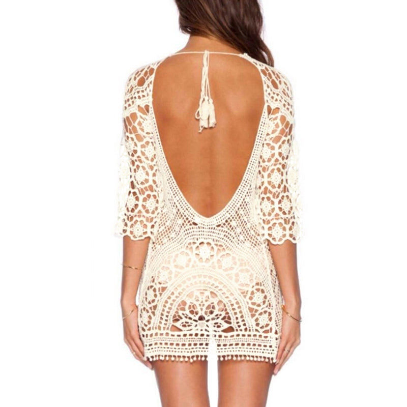 Sheer Scoop Back Cover Up