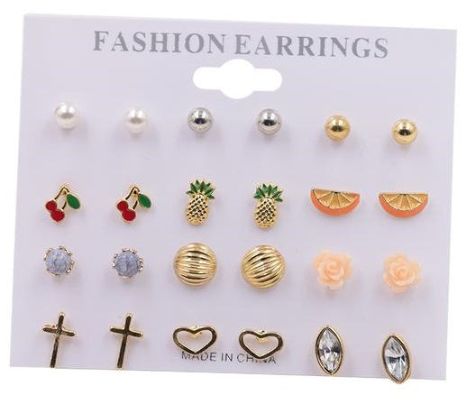 Tropical Stud Earrings Set
