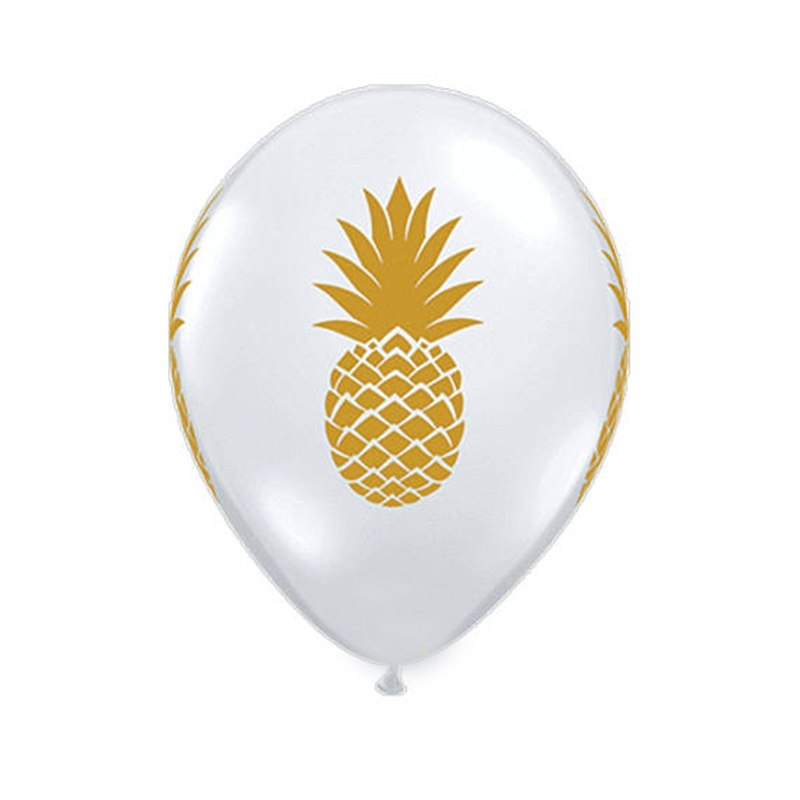 Pineapple Latex Inflatable Balloons (Pack of 10)