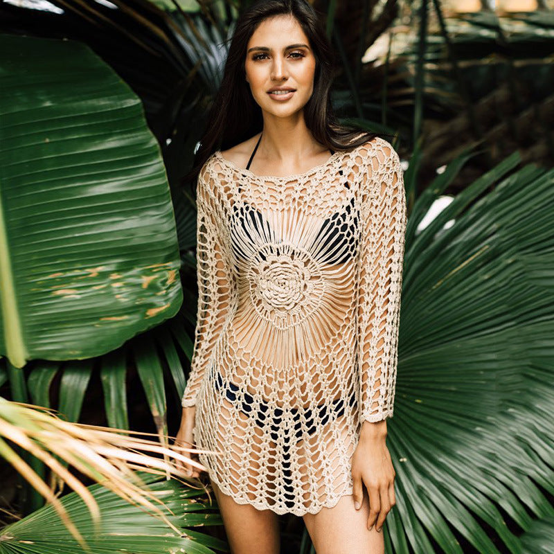 Off-White Crochet Knitted Beach Cover Up