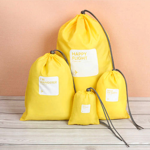 Waterproof Travel Bags Set Of 4 (Yellow)