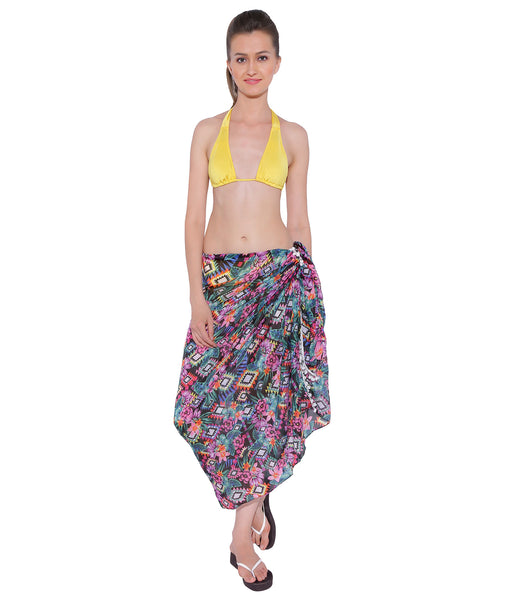Floral Moroccan Pompom Sarong