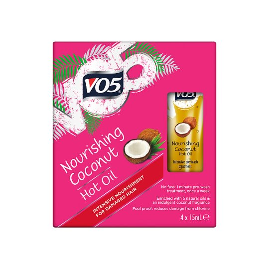 Vo5 Nourishing Coconut Hot Oil 4X15ml