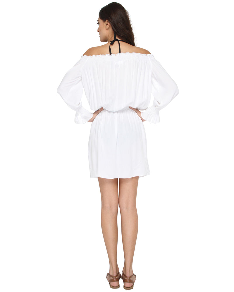 Off-Shoulder Rouched Dress
