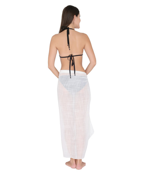 White Lace and Tassel Sarong