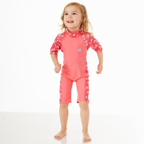 Toddler UV Suit Pink Blossom