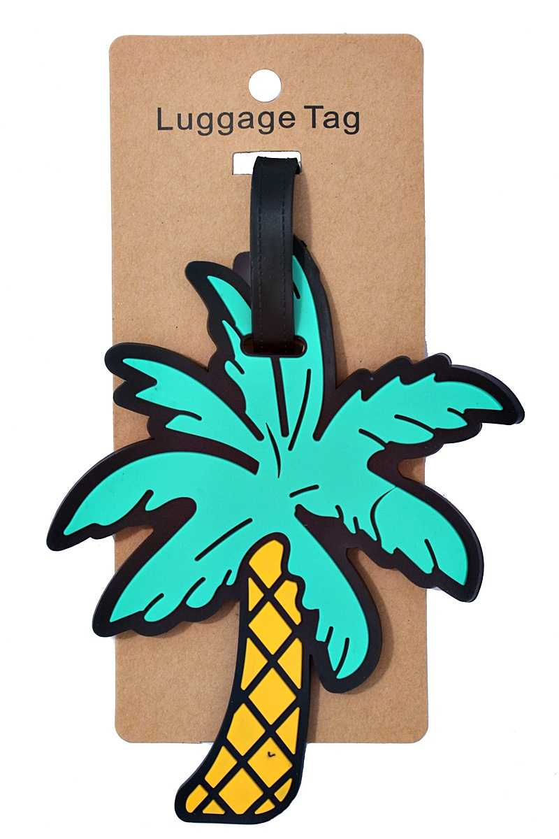 Palm Tree Luggage Tags (Pack Of 2)