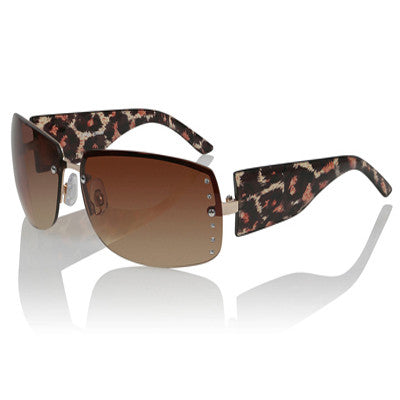 Leopard Print Side Detailed Sunglasses