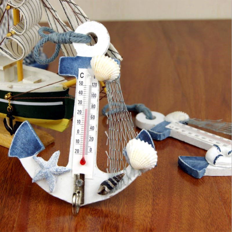 Coastal Anchor Thermometer Wall Hanging